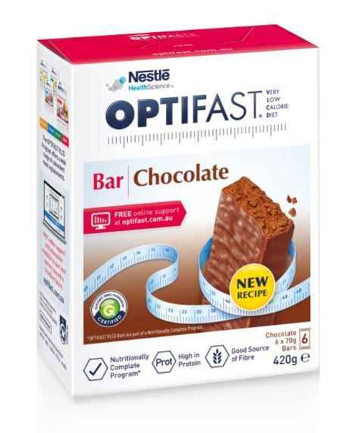 Optifast VLCD Chocolate Bars 70g x 6 Pack Nestle Health Science SuperPharmacyPlus