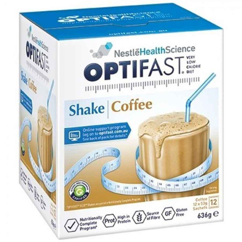 Optifast VLCD Coffee Shake 12 x 53g Sachets Nestle Health Science SuperPharmacyPlus