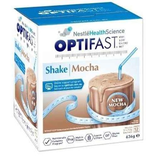 Optifast VLCD Mocha Shake 12 x 53g Sachets Nestle Health Science SuperPharmacyPlus