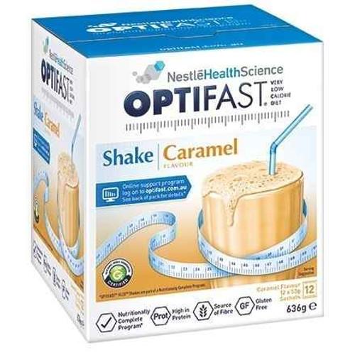 Optifast VLCD Caramel Shake 12 x 53g Sachets Nestle Health Science SuperPharmacyPlus