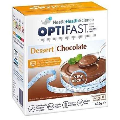 Optifast VLCD Chocolate Dessert 53g x 8 Sachets Nestle Health Science SuperPharmacyPlus