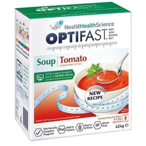 Optifast VLCD Tomato Soup 53g x 8 Sachets Nestle Health Science SuperPharmacyPlus