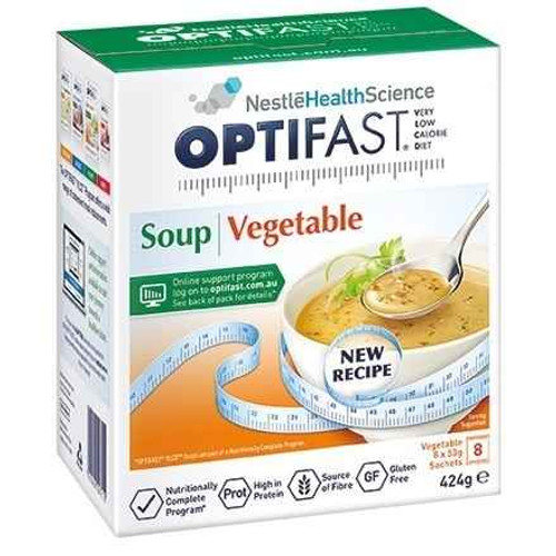 Optifast VLCD Vegatable Soup 53g x 8 Sachets Nestle Health Science SuperPharmacyPlus