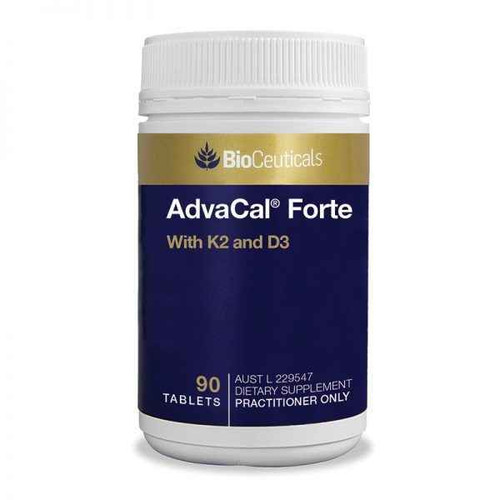 Bioceuticals AdvaCal Forte with K2 and D3 90 Tablets BioCeuticals SuperPharmacyPlus