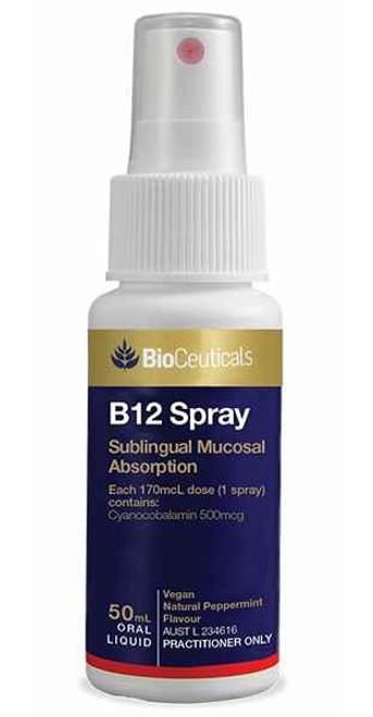Bioceutical B12 Spray 50mL Oral Liquid BioCeuticals SuperPharmacyPlus