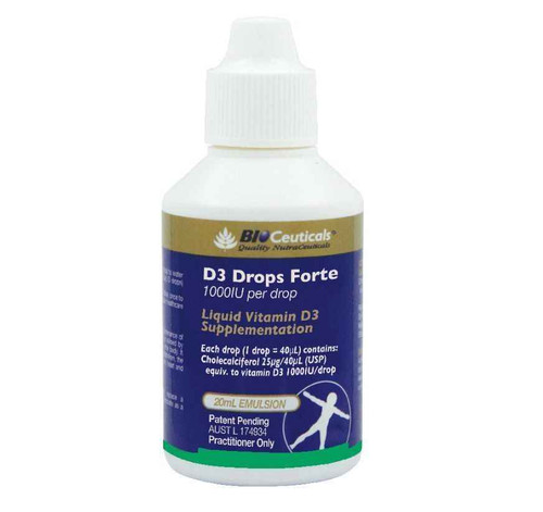 Bioceuticals D3 Drops Forte 20mL BioCeuticals SuperPharmacyPlus