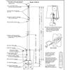 50 Internal Halyard Flagpole w/ Collar EC50IH