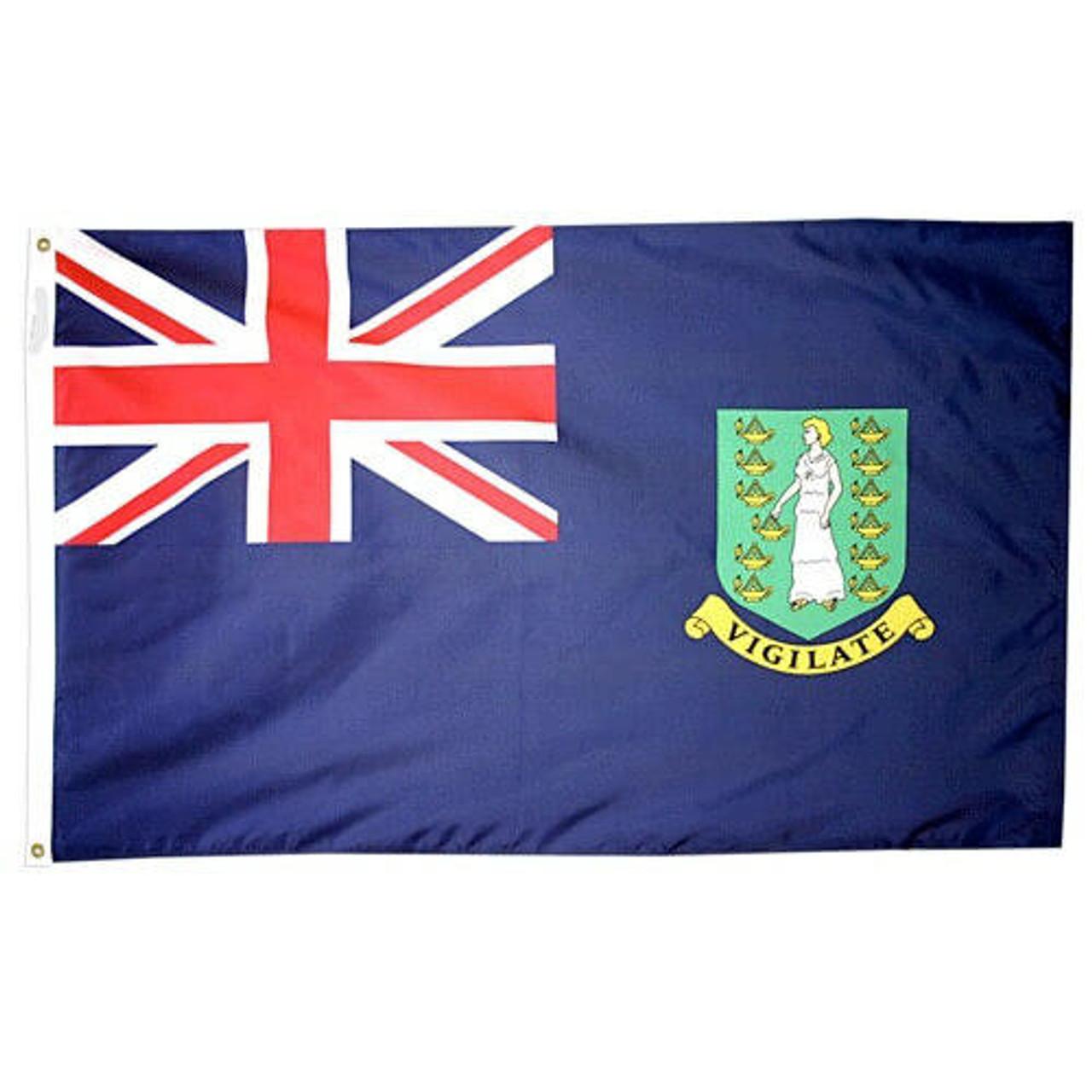 British Virgin Islands Blue Flag