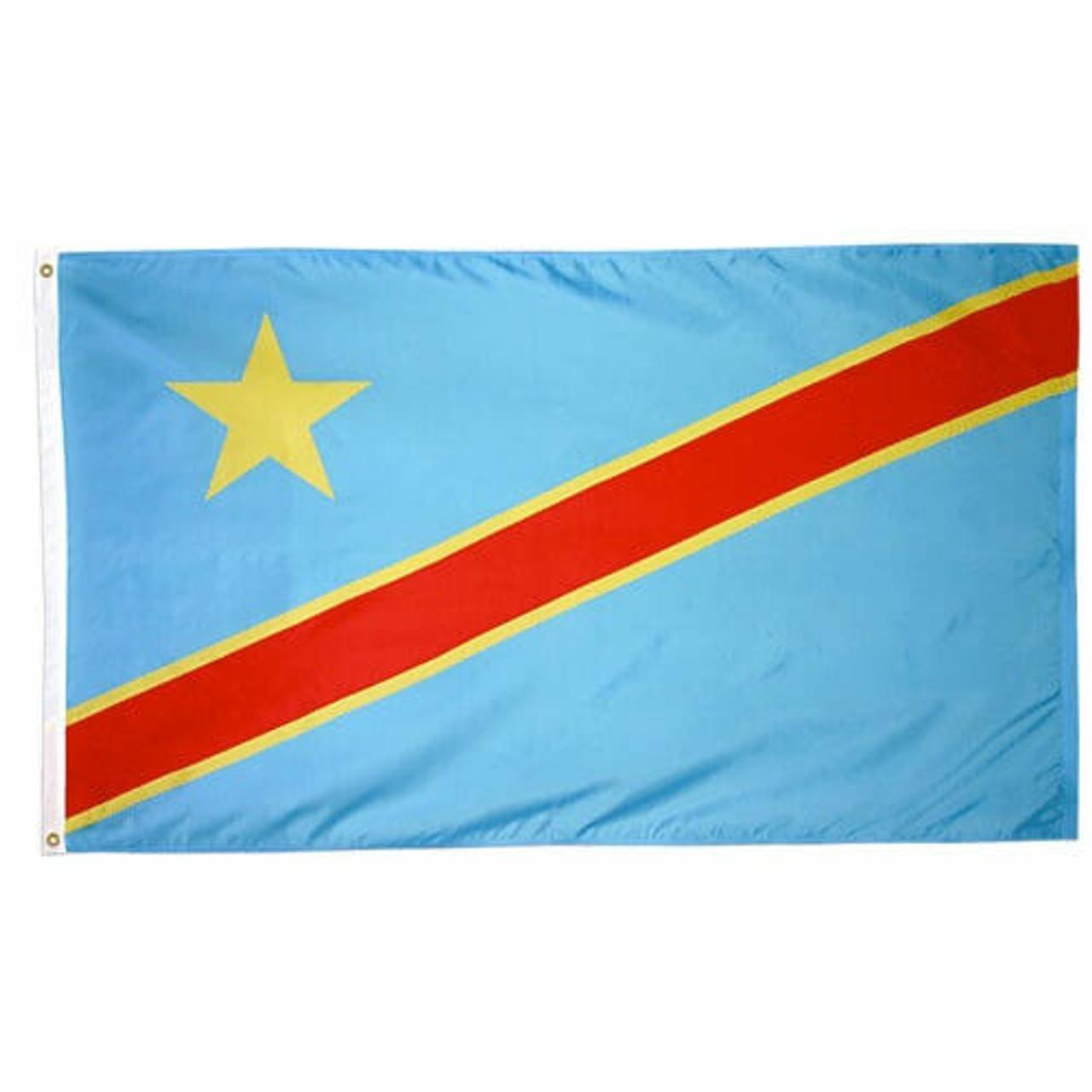 Congo Democratic Republic of Flag