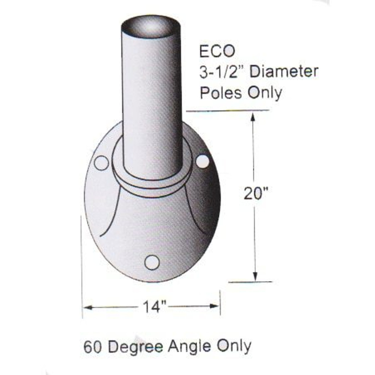 12 Tapered Wall Mounted Flagpole ECO12