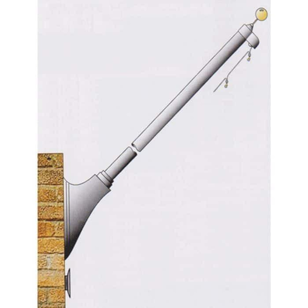 16 Tapered Wall Mounted Flagpole ECO16