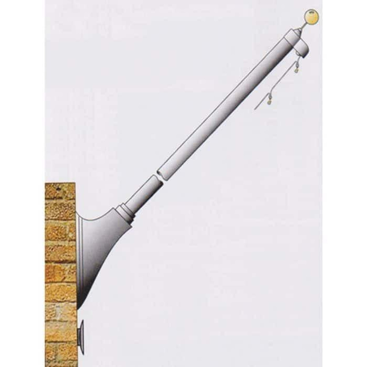 10 Tapered Wall Mounted Flagpole ECOST10