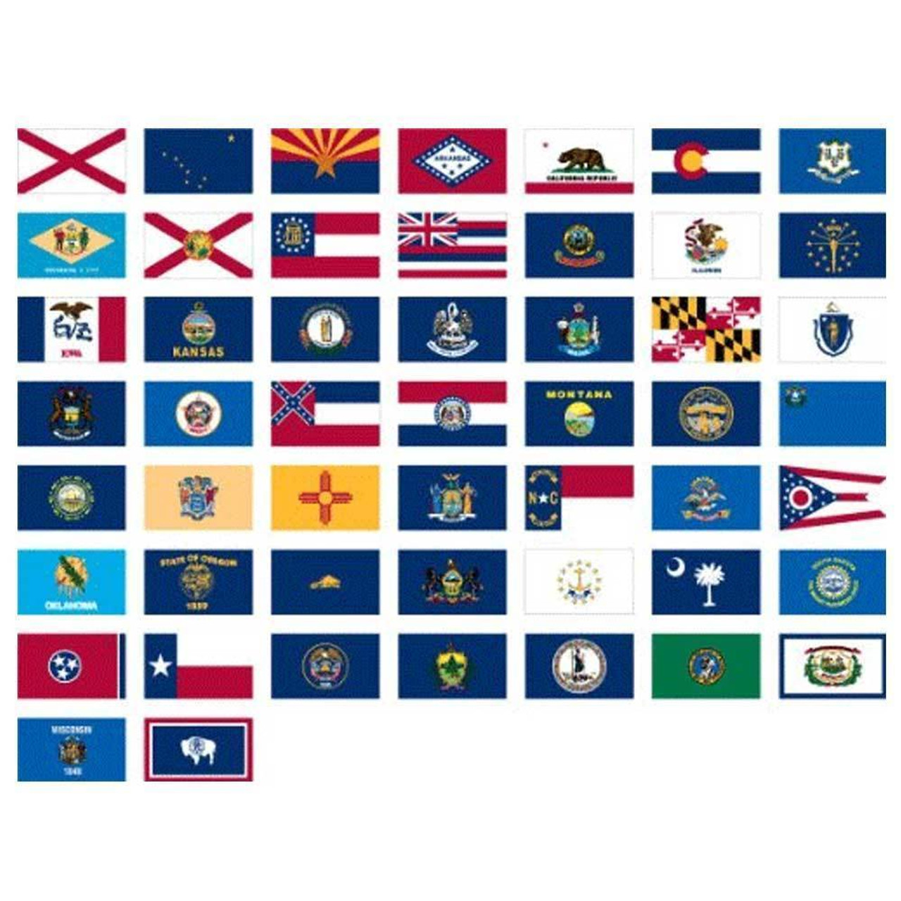 50 State Flag Set