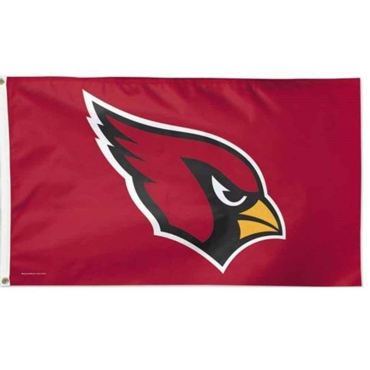 The Arizona Cardinals flag has a red background with a red cardinal head outlined in white.
