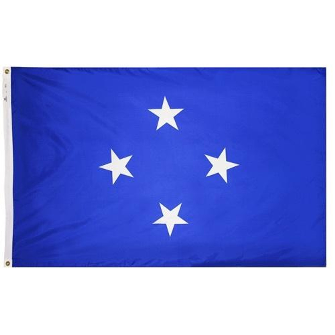 Micronesia Federated States Flag has a blue field with four white stars in the center
