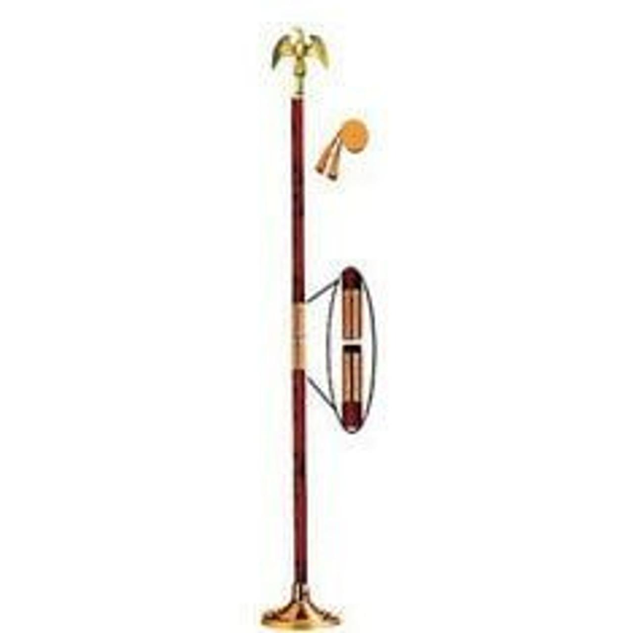 Indoor Display Pole w/ Eagle
