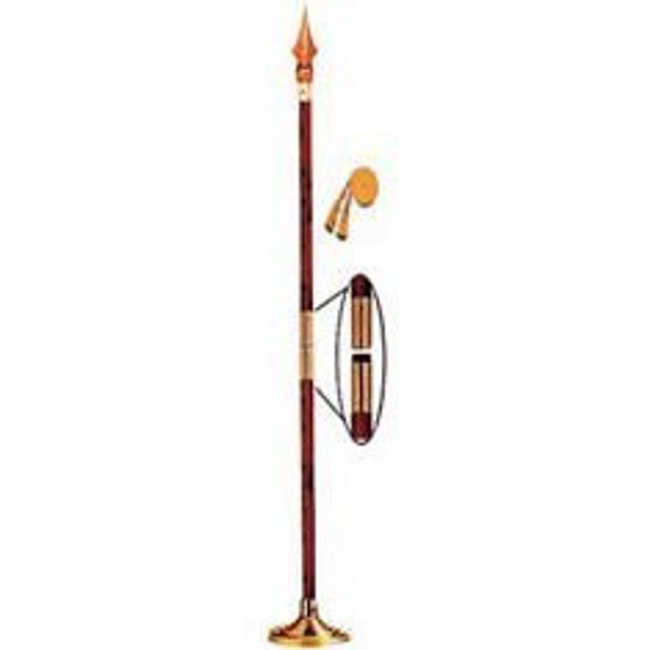 Indoor Display Pole w/ Fancy Spear