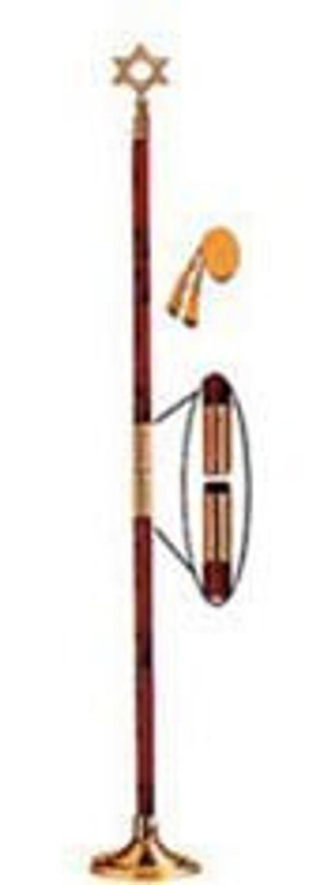 Indoor Display Pole w/ Star of David