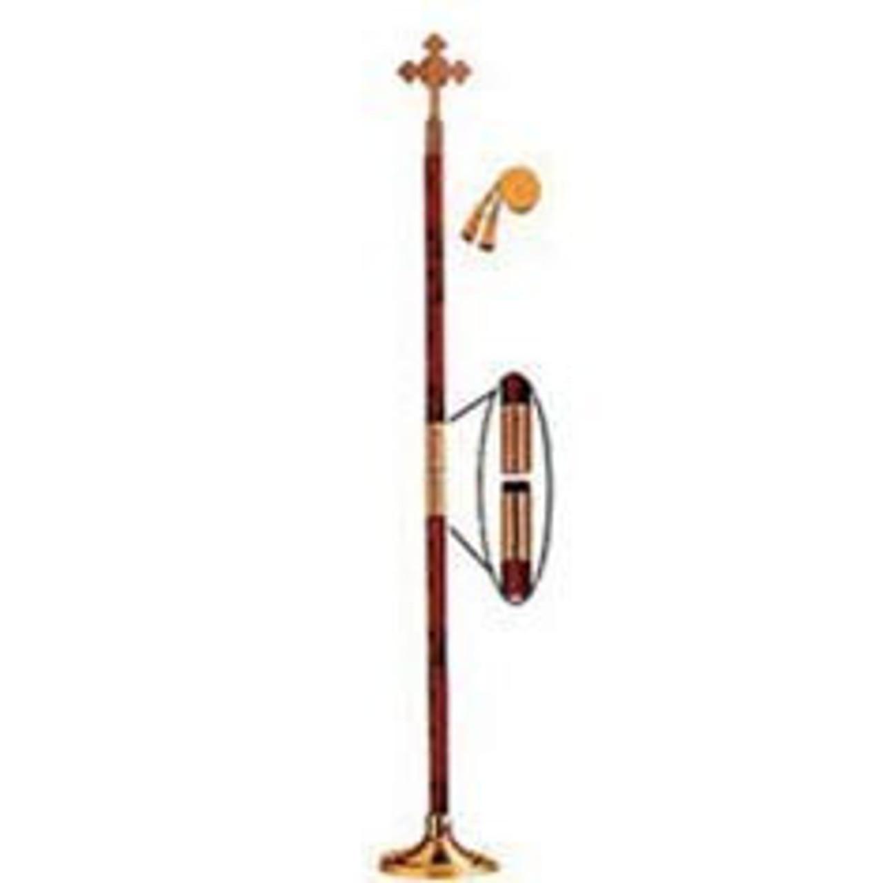 Indoor Display Pole w/ Catholic Cross