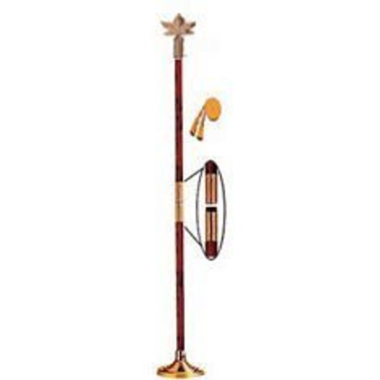 Indoor Display Pole w/ Maple Leaf