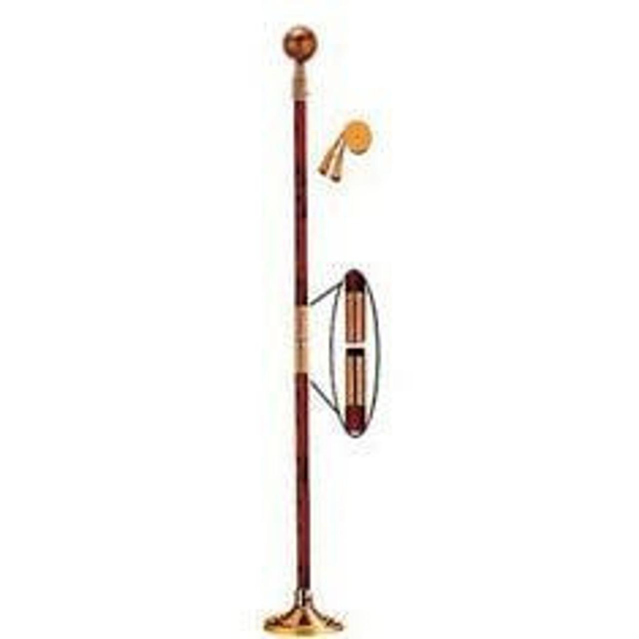 Indoor Display Pole w/ Gold Ball
