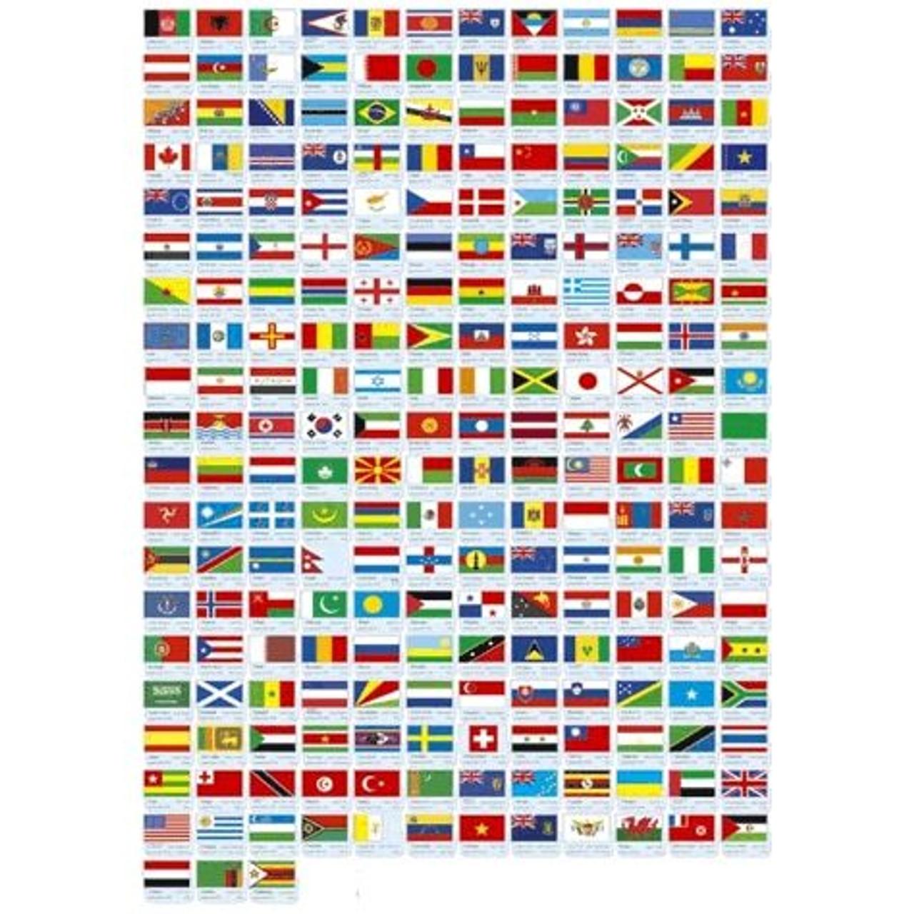 Complete UN Member Flag Set