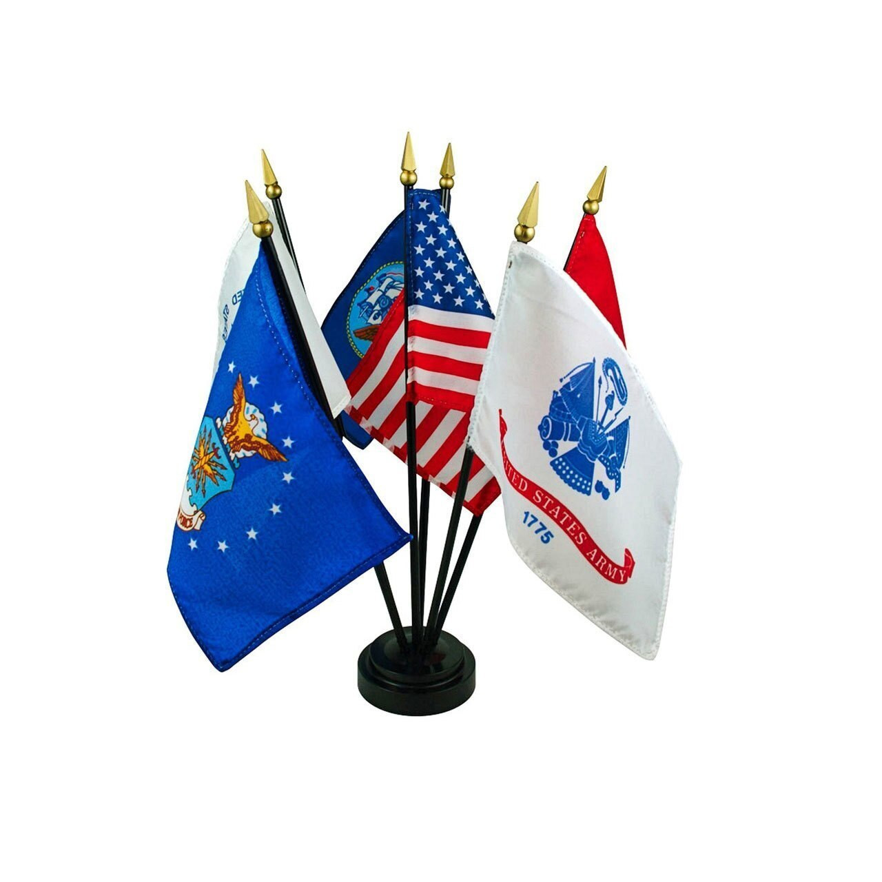 Complete Set of Armed Forces Stick Flags