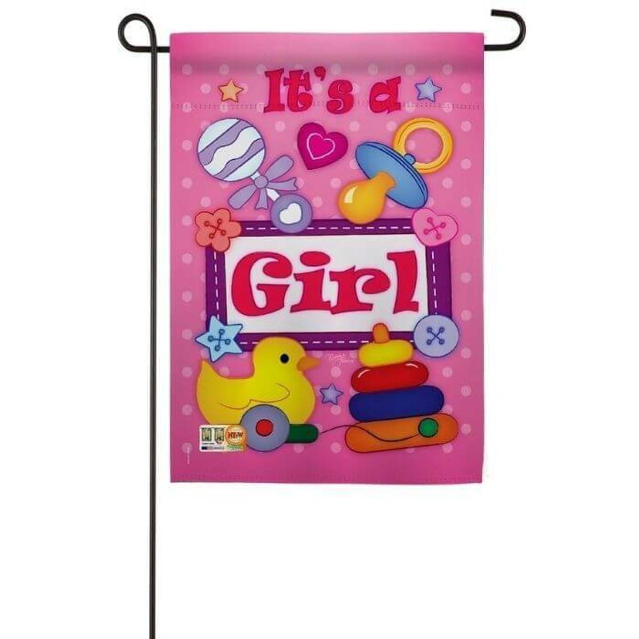 It's a Girl Garden Flag
