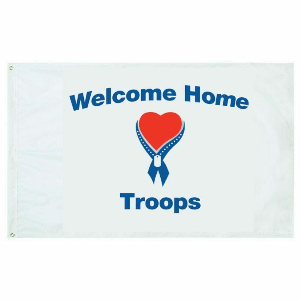 Welcome Home Troops Flag