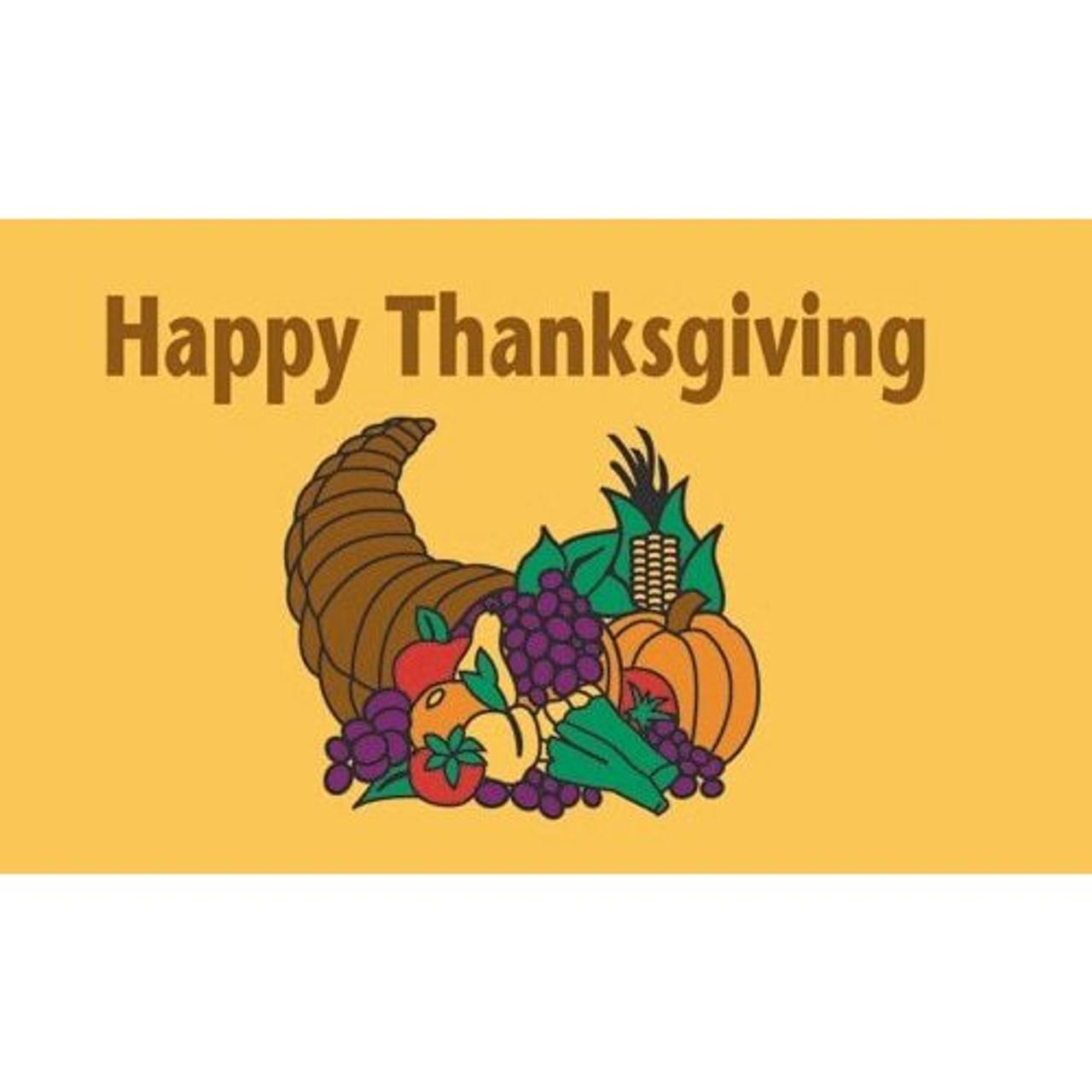 Happy Thanksgiving Flag