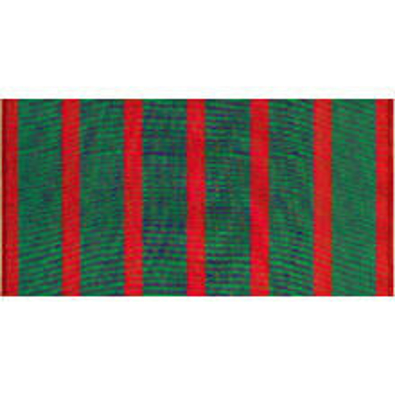 French Croix de Guerre WWI Streamer made of rayon with grommet or sleeve at top. This Dark Green and Red Stripes with Inscription comes in size 2 3/2 x 3 or 2 3/2 x 4.