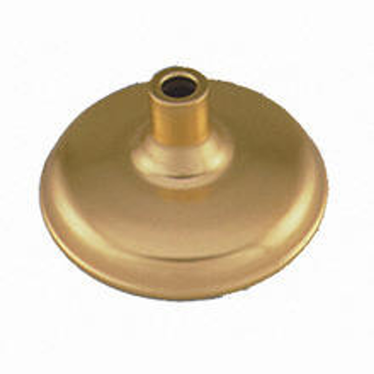 """An Admiral AAA Floor Stand made of cast iron, is colored gold, with a round bell shaped base and a cylinder shaped pole mount that holds up to 1 1/4"""" or 1 3/8"""" diameter flagpole."""