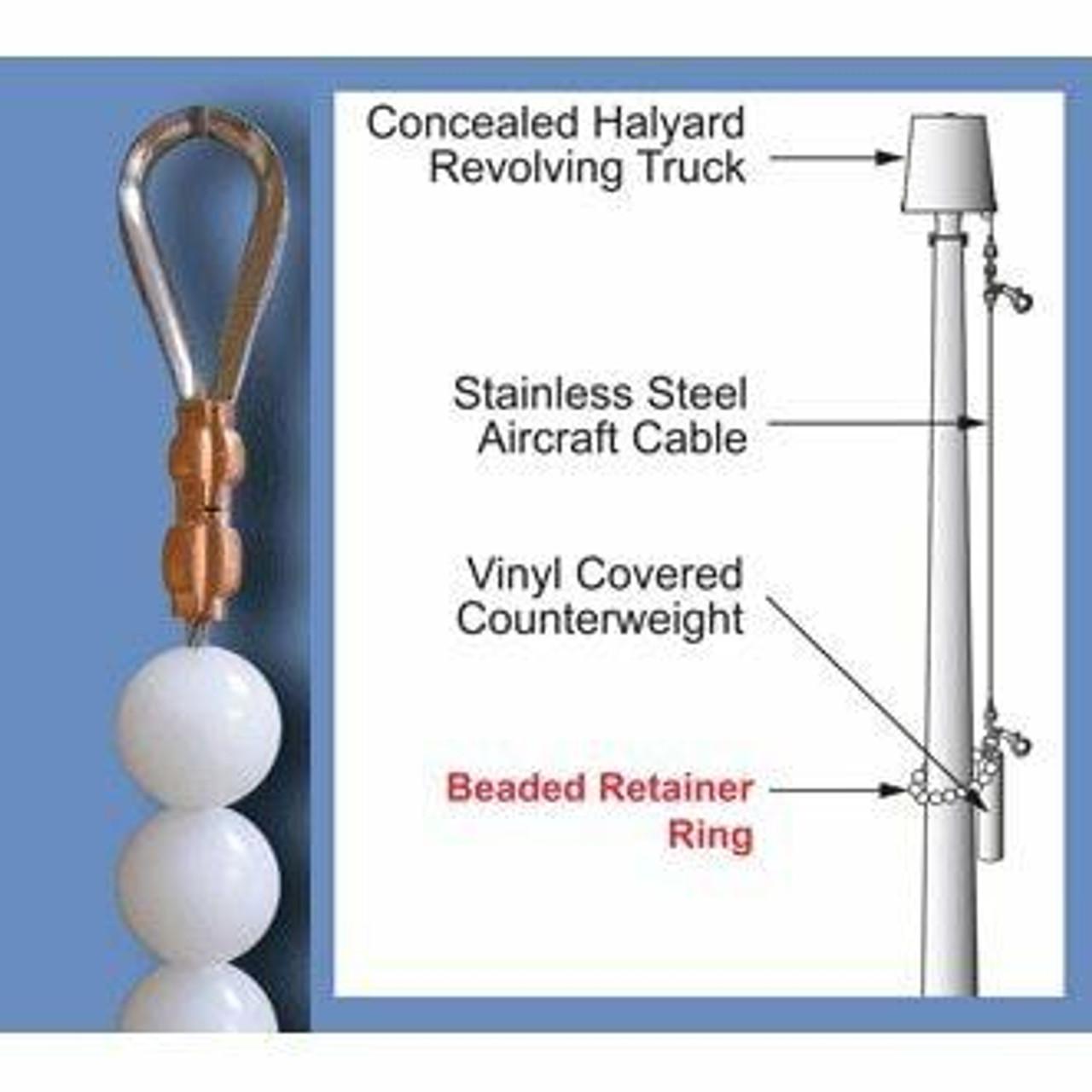 Beaded Retainer Ring