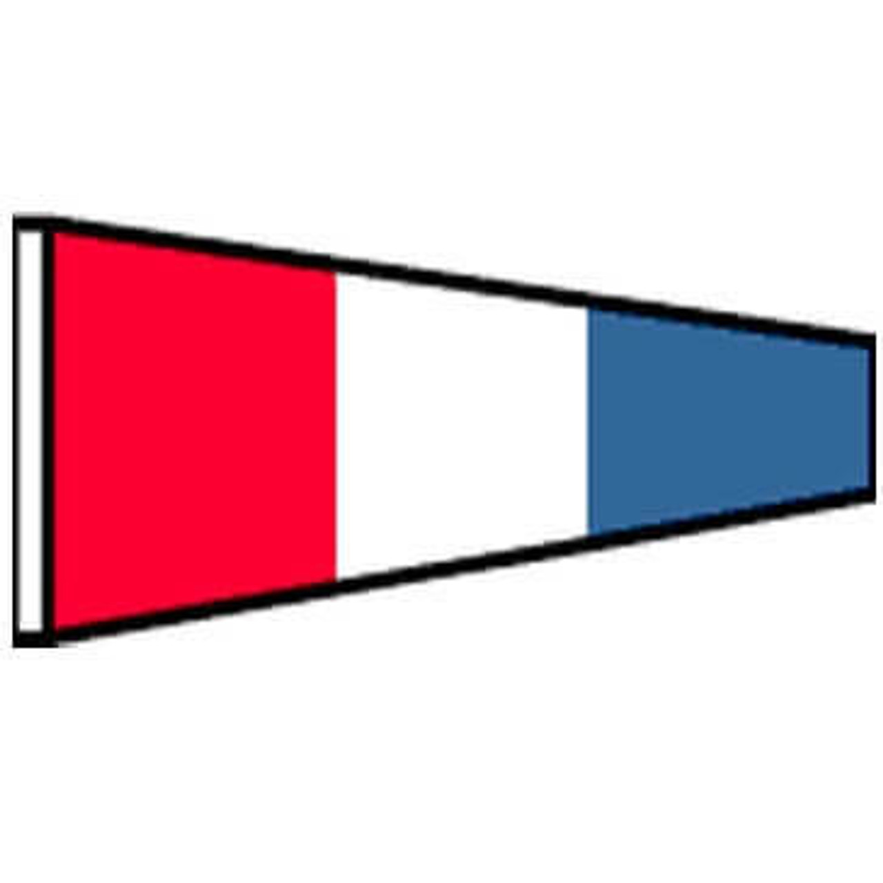 Three Flag code signal with colors red, white, and blue