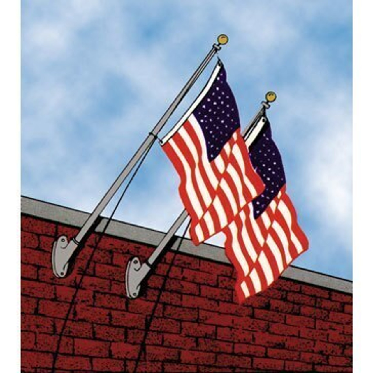 6 Budget Wall Mounted Flagpole EOA6