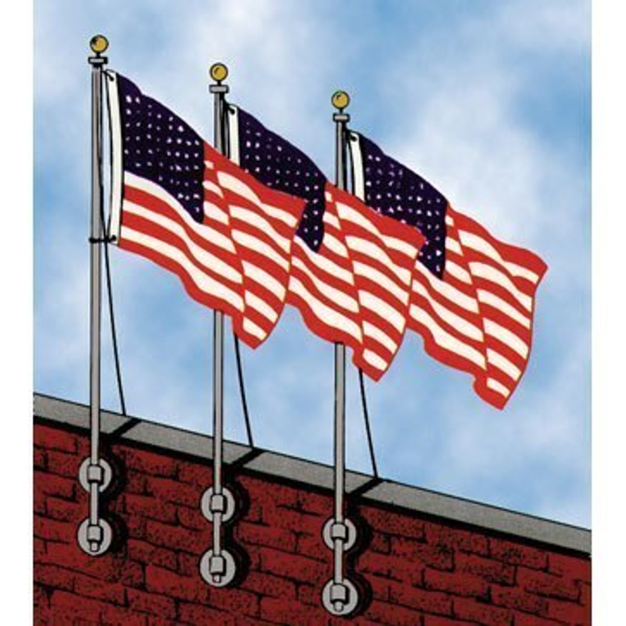 10' Roof Mounted Flagpole (RM10)