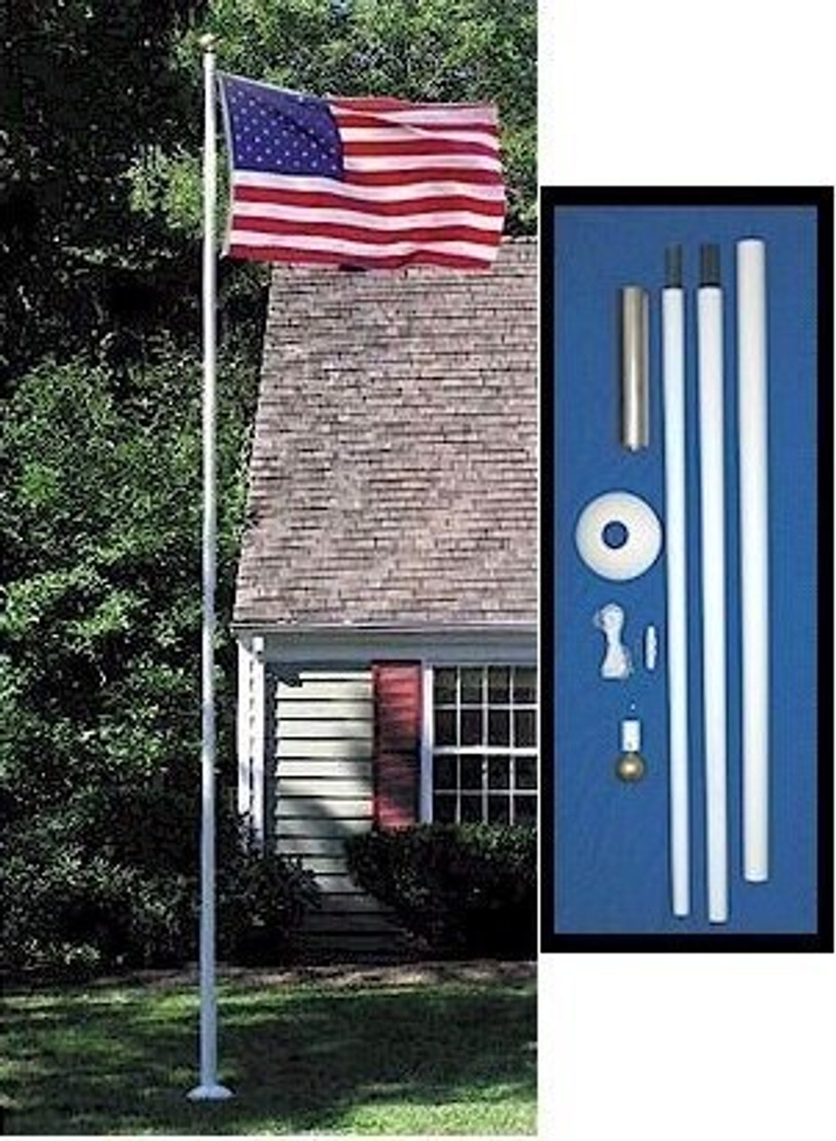 20 Tapered Fiberglass Flagpole Set FG20S