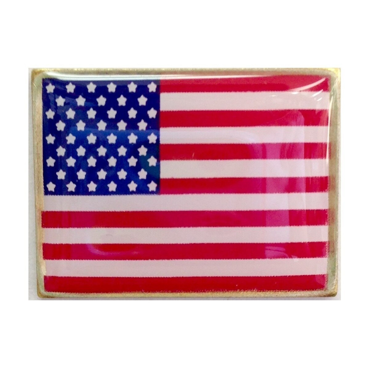 Rectangle American Flag Lapel Pin