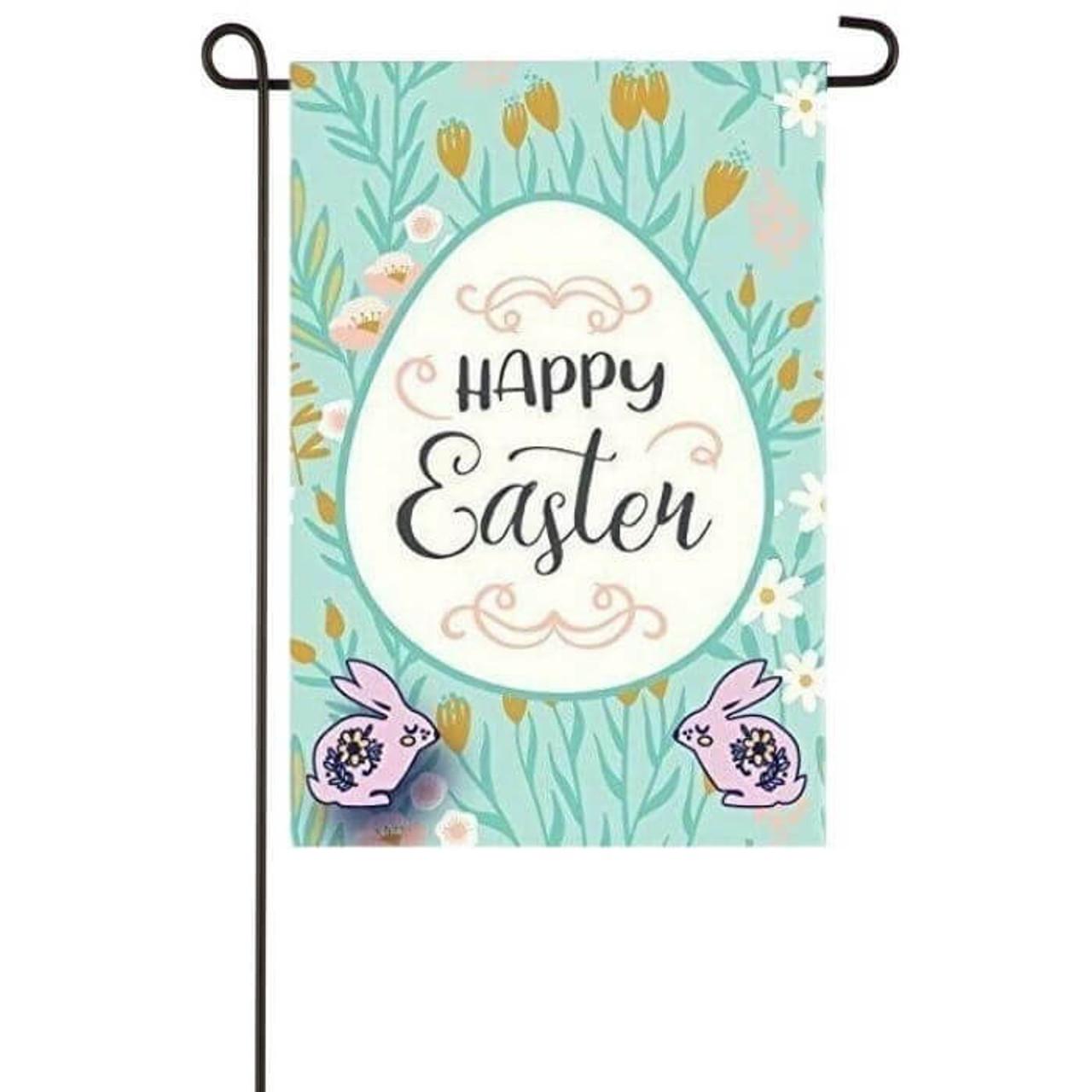 Bunny Hop Garden Flag