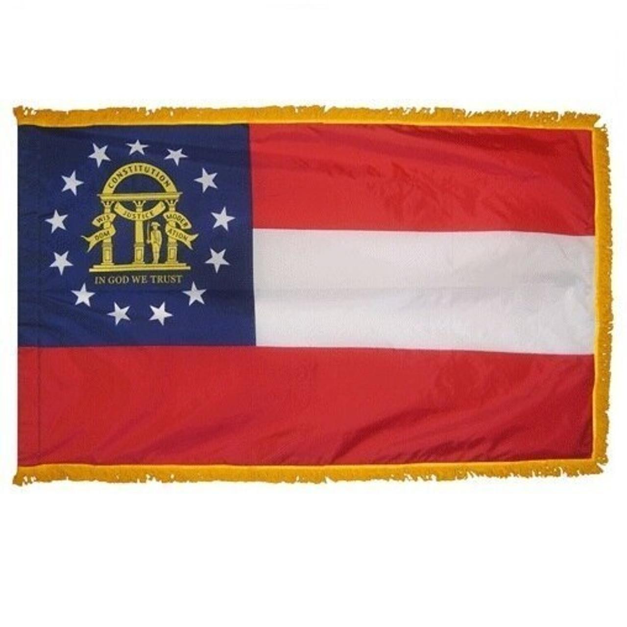 Indoor Georgia Flag