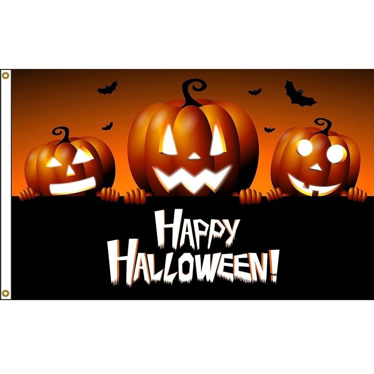 Halloween Pumpkins Flag