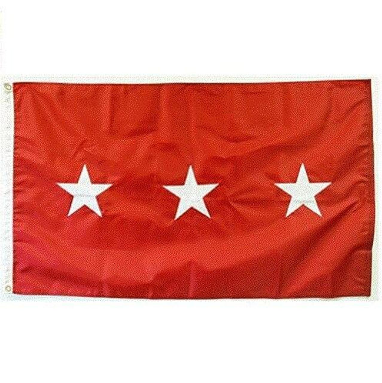 Army 3 Star Officer Flag