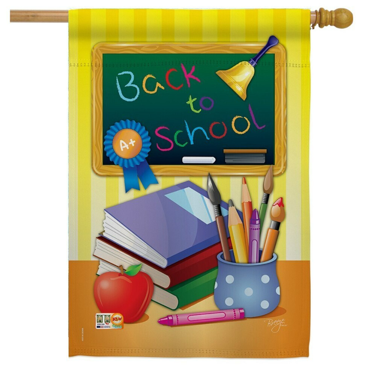 Back to School Chalkboard House Flag
