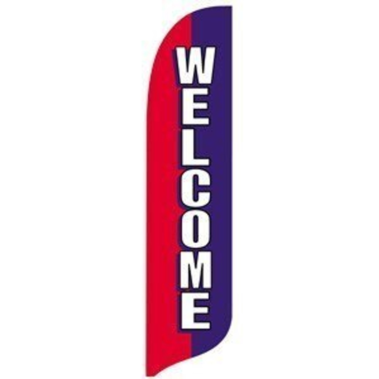 Red, White and Blue Welcome Blade Flag