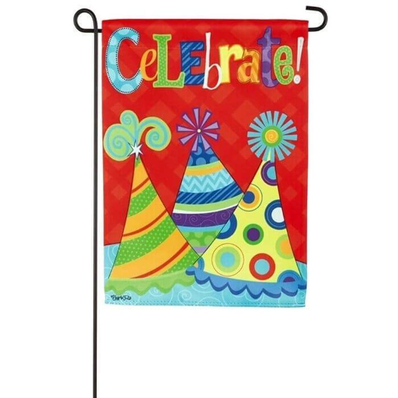 Lets Celebrate Garden Flag