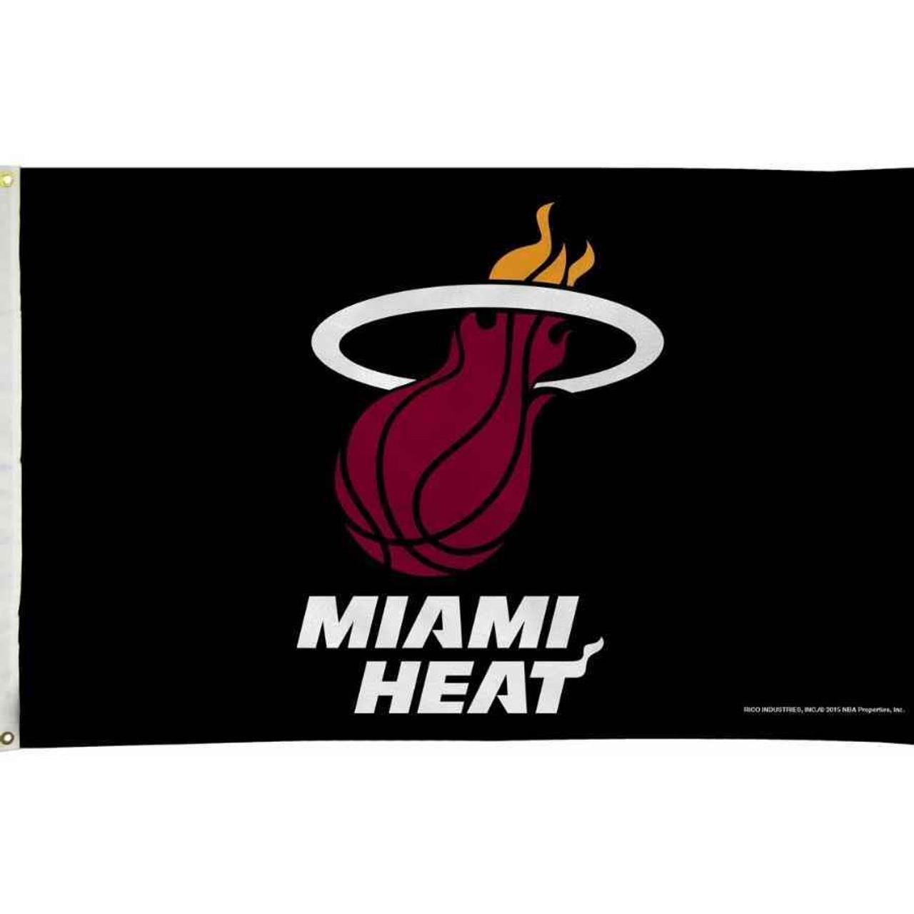 Miami Heat Black Flag
