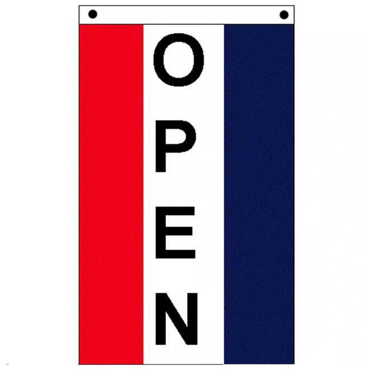 Vertical Open Flag