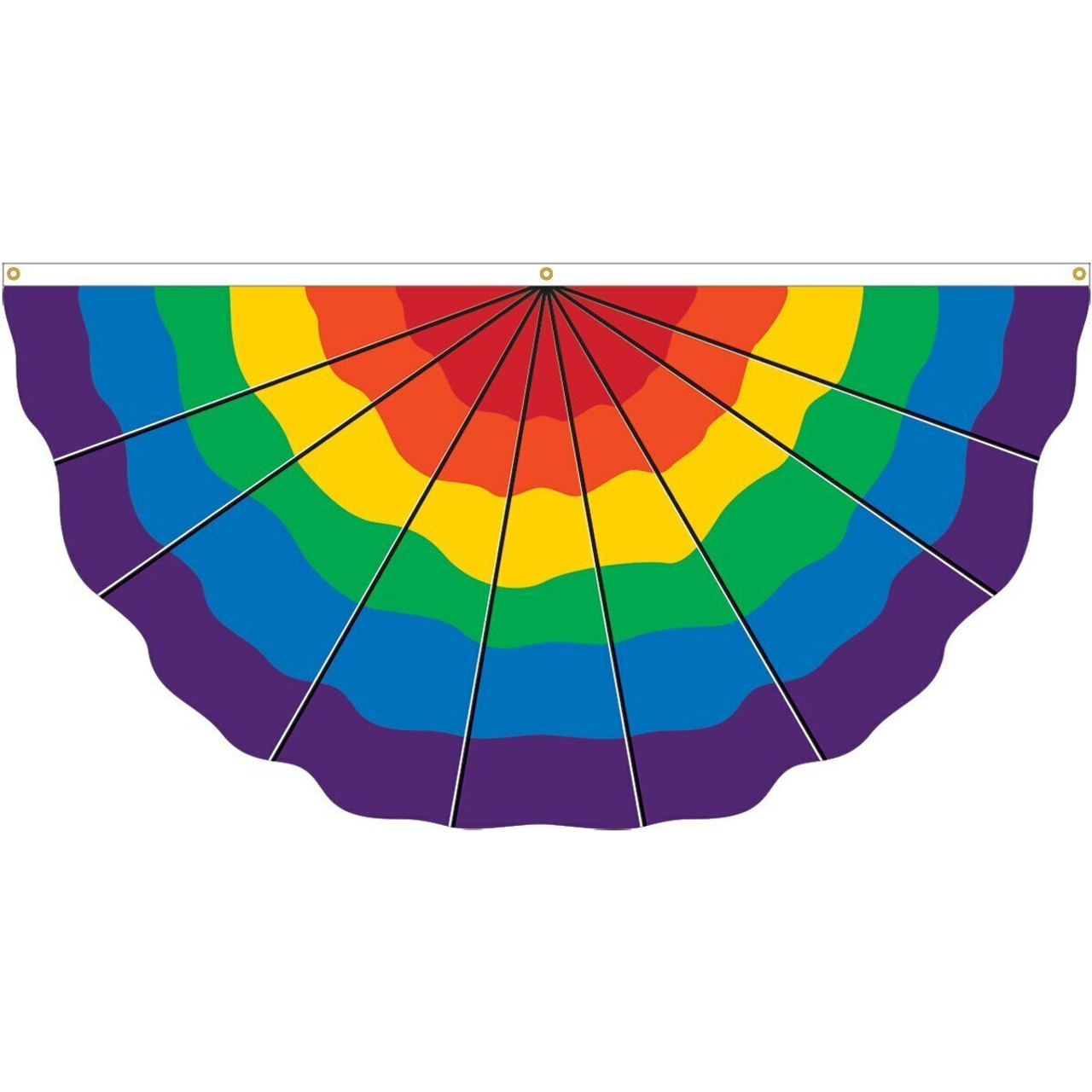Rainbow/Pride Pleated Fan