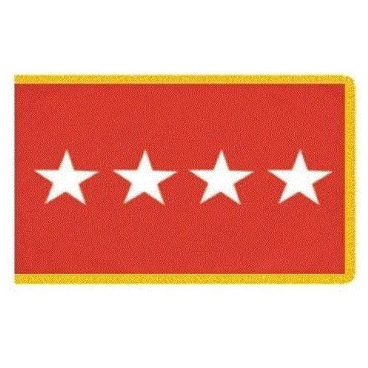 Army 4 Star Officer Indoor Flag