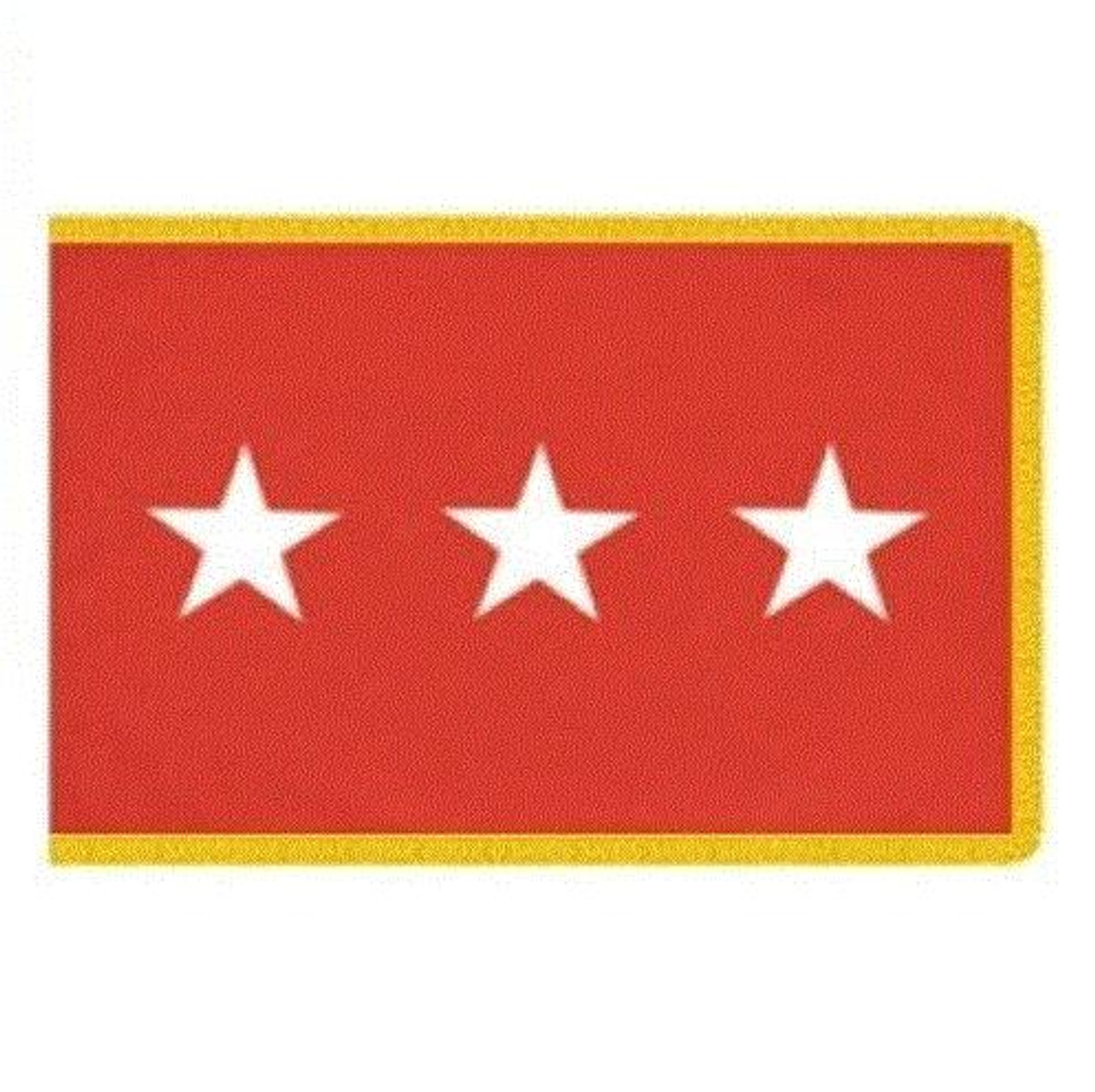 Army 3 Star Officer Indoor Flag